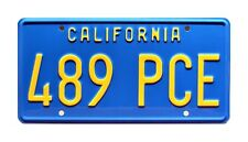 Transformers   BeaterBee Bumblebee Camaro   489 PCE   STAMPED Prop License Plate