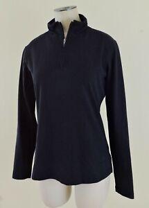 PATAGONIA VITALITI Women Sz Small Black 1/4 Zip Long Sleeve Outdoor Pullover EXC