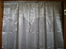1 Elegant Home Window Curtain Drape  Attached Valance  TASSELS GORGEOUS