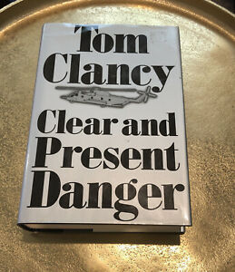 SIGNED Clear and Present Danger Hardcover By Tom Clancy AUTOGRAPHED