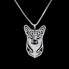❤️ Halskette, Anhäger Welsh Corgi, Hundekopf pendant, necklace