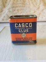 Vintage Tin Casco Powdered Casein Glue 1.5 oz UNOPENED