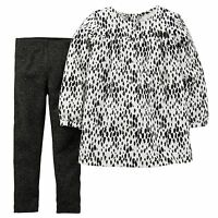 Carter's Baby Girls' 2-Piece Spot-Print Shirt & Leggings Set Size 6-12-18-24 Mon