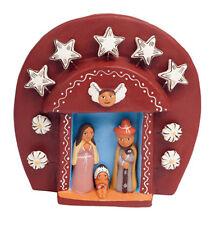 Peruvian Grotto Nativity Ceramic Fair Trade Eco Crossroads Holy Family