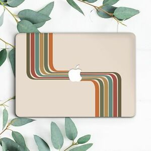 Colorful Retro Stripes Abstract Lines Hard Case For Macbook Pro 13 15 16 Air 13