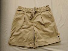 """J Jill Stretch Beige Belted Cuffed Chino Shorts 6 7"""" Inseam"""