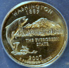 2007 D  WASHINGTON QUARTER, WASHINGTON,  ANACS MS 67 SATIN FINISH