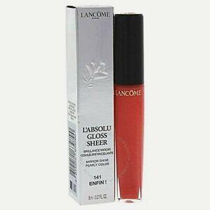 Lancome L'Absolue Gloss Sheer Lip Gloss ~ 141 Enfin!  NIB