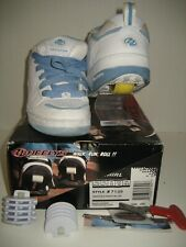 Heelys Wheels White Blue Kids Youth Girls US 1 Skate Sneakers Lace-Up Shoes Box