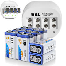 600mAh 9V Li-ion Rechargeable Battery+ 9 Volt 6F22 Batteries Charger For MIC Toy