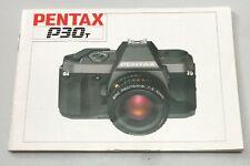 PENTAX P30T FILM SLR USER INSTRUCTION MANUAL - ENGLISH