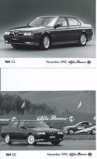 Alfa Romeo 164 Q4 SZ Original Press Photograph x 2