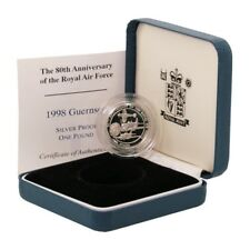 Guernsey 80th Anniversary of the Royal Air Force £1 1998 Proof Silver Coin Mint