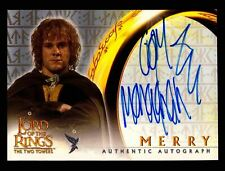 Lord of The Rings Two Towers Dominic Monaghan as Merry Autograph Card LOTR TTT