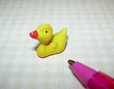 """Miniature Metal """"Rubber"""" Duck Toy for DOLLHOUSE Bathtub: Large 1:12 or 1:6 Scale"""
