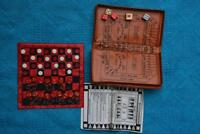 Backgammon-Chess- Craps Magnetic Travel Game Set. Includes Case + Rules + Dice