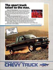 1985 Chevy Truck S-10 Maxi-Cab Print Ad N1