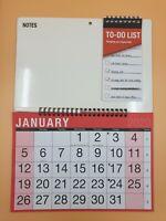 2020 Spiral Bound Memo Board Month Calendar, to Do List & Write on Wipe Off Pen
