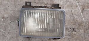 95-97 Chevy Blazer Driver Left Sealed Beam Headlight w Mounting Bucket, Trim