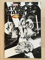 STAR WARS #1 DCBS Alex Maleev B/W Sketch variant