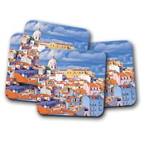 4 Set - Lisbon City Portugal Coaster - Travel Holiday Buildings Cool Gift #14934