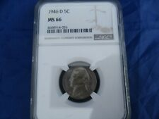 1946 D NGC MS 66 Jefferson Nickel 5 Cent Coin   4600914-026