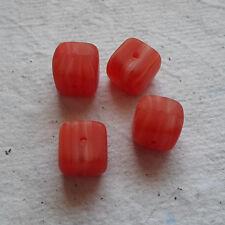 Perline Vetro Ceco ~ 30 x 8 mm rosso PERLE cubo