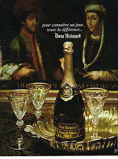 PUBLICITE ADVERTISING 024   1974   DOM  RUINART    blanc de blanc