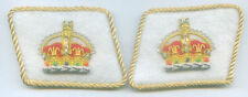 Royalty King Crown Heraldry Uniform Collar Tabs Officer Parade Patch Dynasty UK