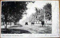 1906 Postcard: 'Boulevard, Fort Snelling - St. Paul, Minnesota MN'