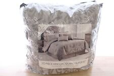 Sunham King 19-Pc Comforter Super Set Hendel Silver A9Y055