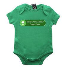 Achievement Unlocked Pooped Today Gamer Xbox Babygrow Gift Baby Grow Newborn 536