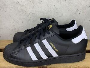 Adidas Superstar Shoes Mens Size 10 Originals Classics Black 3 Stripes
