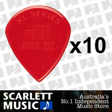 10 X Jim Dunlop Jazz 3 XL Red Guitar Pick *New* 47RXLN Jazz III