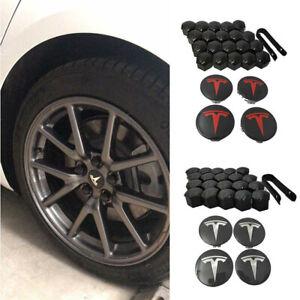 For Tesla Model 3 S&X Center Cap Set Aero Wheel Cap Kit &Wheel Lug Nut Cover GB