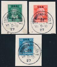 DR 1927, MiNr. 407-409, 407-09, Briefstücke, gepr. Schlegel, Mi. 250,-
