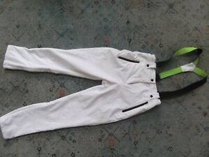 Women's TOPSHOP SNO snow pants white slim  high rise Sz. 6 US