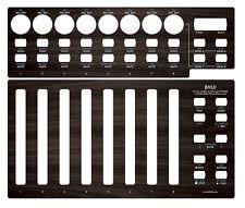 """Overlay (""""dark wood"""") für Behringer BCF2000 in Mackie Baby HUI emulation mode"""