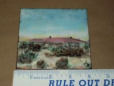 Copper & Porcelain Abstract Art Tile Plate Sign By Georgia Beachy