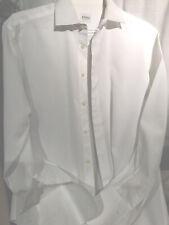 Armani Collezioni Button Up Shirt Mens Size 15 1/2 39 R White Checkered Cotton