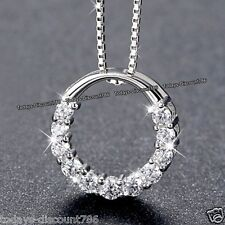 BLACK FRIDAY DEALS - Silver Infinity Diamond Necklace Xmas Gifts For Her Women