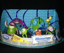 Disney Authentic Mike Sulley Monsters University Christmas Ornaments 7pc Set NEW