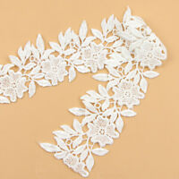 2 Yards Embroidered Lace Trim Ribbon Wedding Bridal Dress For DIY Sewing Craft