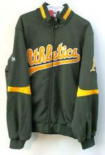Majestic Therma Base Oakland Athletics A's Dugout Full Zip Jacket Men's Sz Large