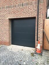 MODERN RIB SECTIONAL GARAGE DOOR FREE COLOUR CHOICE FREE ELECTRIC INSULATED 40mm