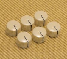 "099-0933-000 Fender Pure Vintage ""Radio"" Amplifier Knobs Set of 6 Cream"