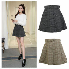 Pleated Hand-wash Only Mini Skirts for Women