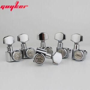GUYKER 6R Machine Heads no screws Locking Tuning Key Pegs Tuners Chrome