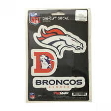 Team ProMark NFL Denver Broncos Die-Cut Decal Sticker 3-Pack Made in U.S.A