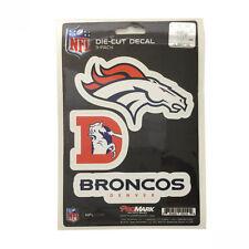 Team ProMark NFL Denver Broncos Die-Cut Decal Sticker 3-Pack Made in U.S.A